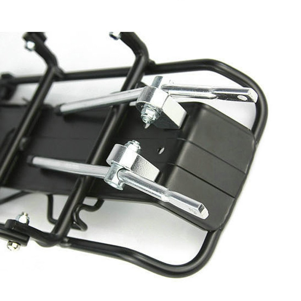 Good deal Cycling MTB Aluminum Alloy Bicycle Carrier Rear Luggage Rack Shelf Bracket for Disc Brake/V-brake Bike Black
