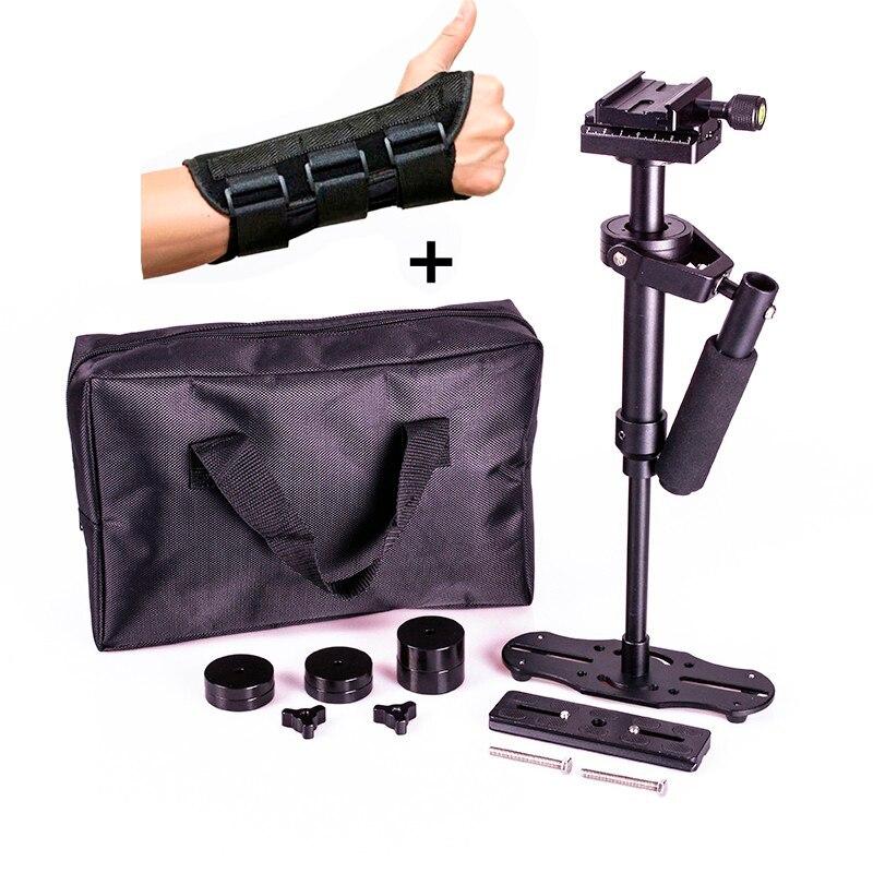 bilder für DSLR 0,4 mt 40 cm 1,5 KG mini Handkamera stabilizer S40 steadicam video steadycam stetige cam mit hand schutzhülle klammer