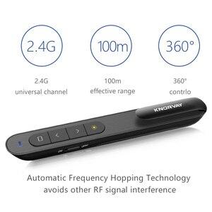 Image 4 - Knorvay אלחוטי מגיש RF 2.4GHz מיני USB אלחוטי מגיש Powerpoint PPT מצגת מצביע שלט רחוק