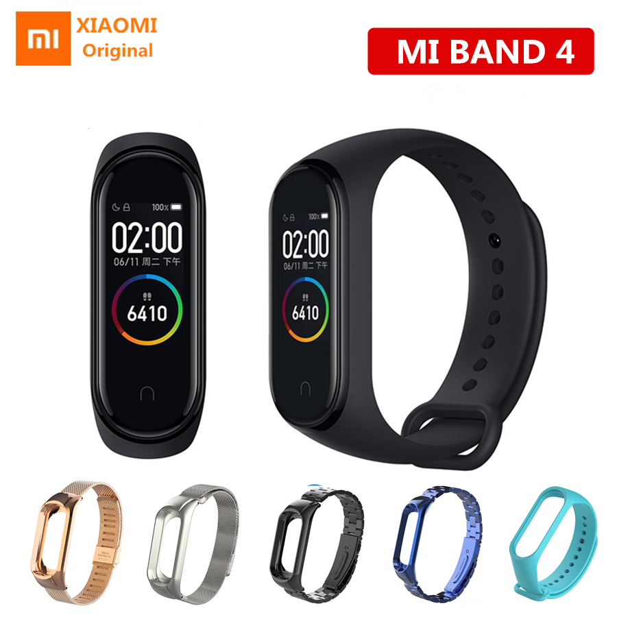 Xiaomi Mi Band 4 Smart Bracelet Bluetooth 5.0 Sport Fitness Wristband music control Heart Rate 5ATM waterproof with metal strap-in Smart Wristbands from Consumer Electronics    1