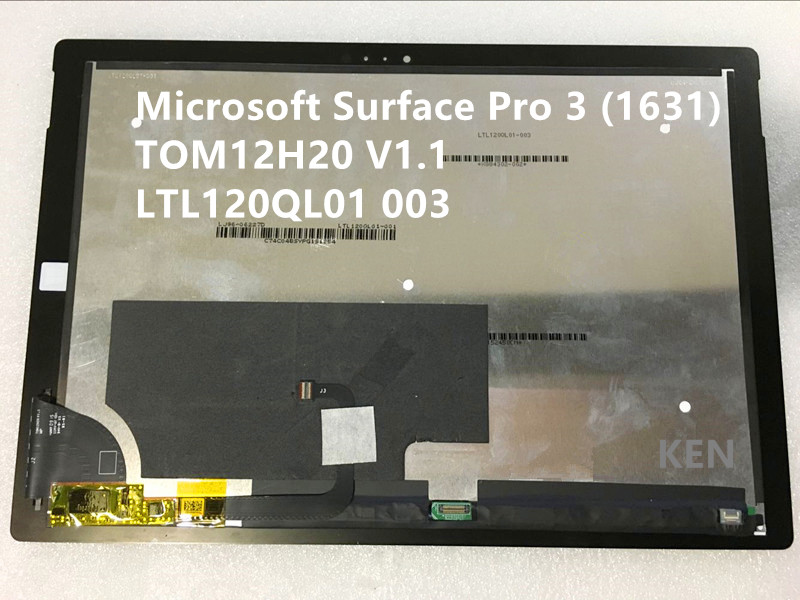 Lcd For Microsoft Surface Pro 3 1631 TOM12H20 V1 1 LTL120QL01 003 lcd touch screen digitizer