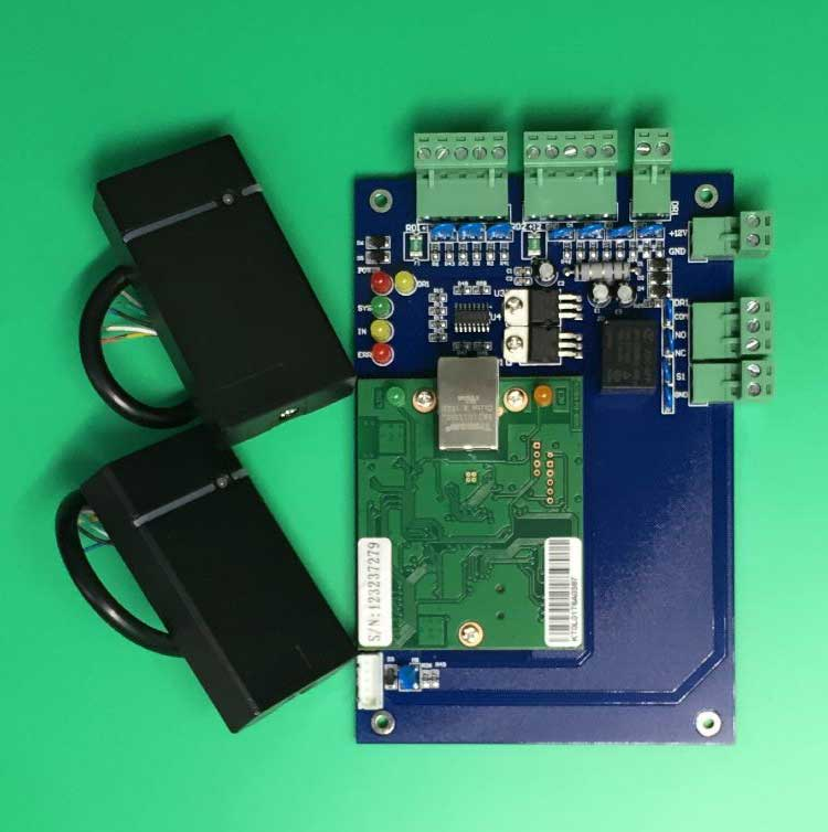 Wiegand TCP/IP Network Access Control Board Panel Controller+Two Piece RFID Card Reader