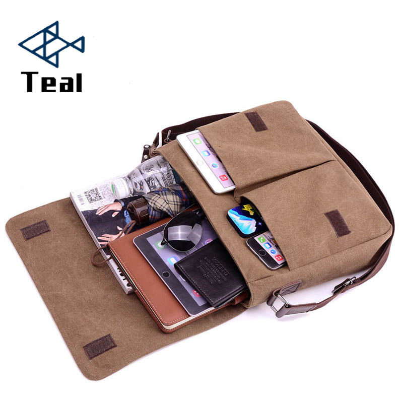 Men Bag Men's Briefcase Canvas Business Bags Luxury Designer Laptop Briefcase File Package  Travel Leisure Bags 2018