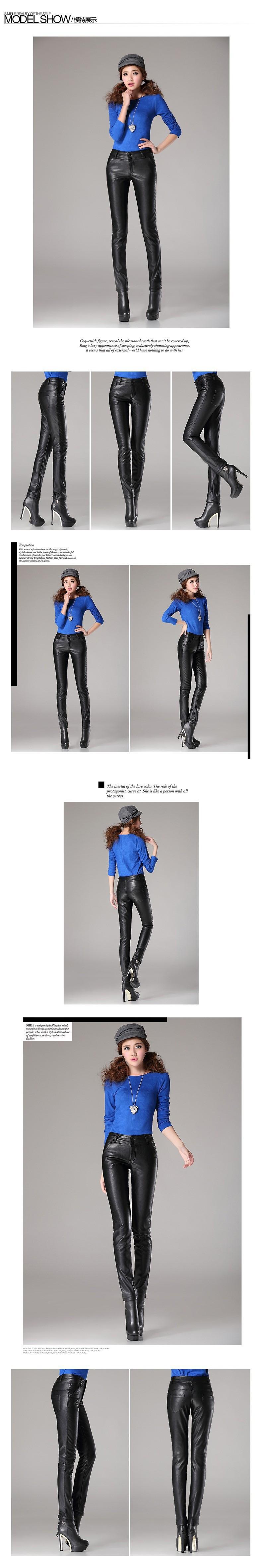 новый черный высокая Tale кожаные штаны женщин плюс бат теплые зимние брюки Crash брюки