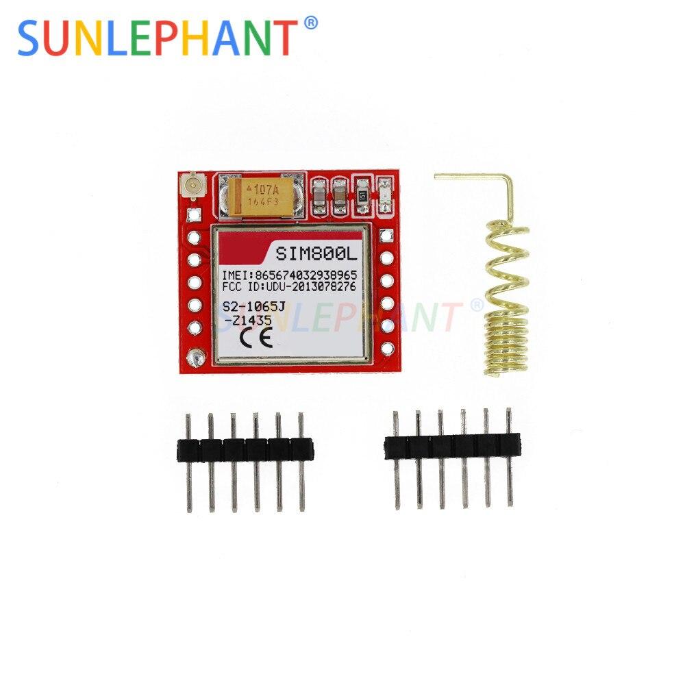 Mini Più Piccolo SIM800L GPRS Modulo GSM Carta di MicroSIM Core di Bordo Wireless Quad-band TTL Porta Seriale