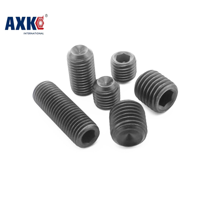 все цены на  Free Shipping 100pcs/Lot M2.5x3 mm M2.5*3 mm Alloy steel Hex Socket Head Cap Screw Bolts set screws with cup point  онлайн