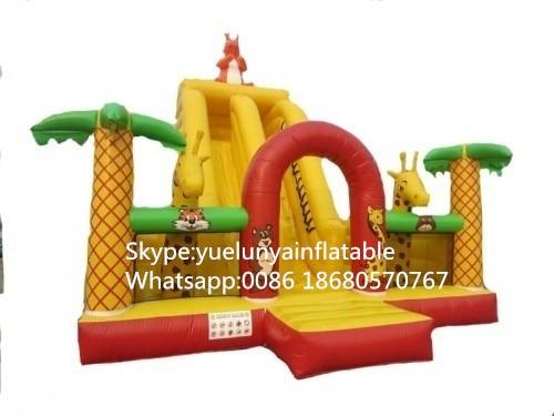 Factory direct inflatable castle slides large obstacles Animal Paradise slide castle combination KYB-701 factory direct inflatable castle slide small household slides inflatable slides cn 046