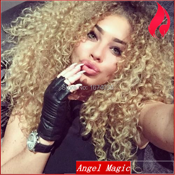 New Fashion On Sale Hot Kinky Curly Brown Blonde Ombre