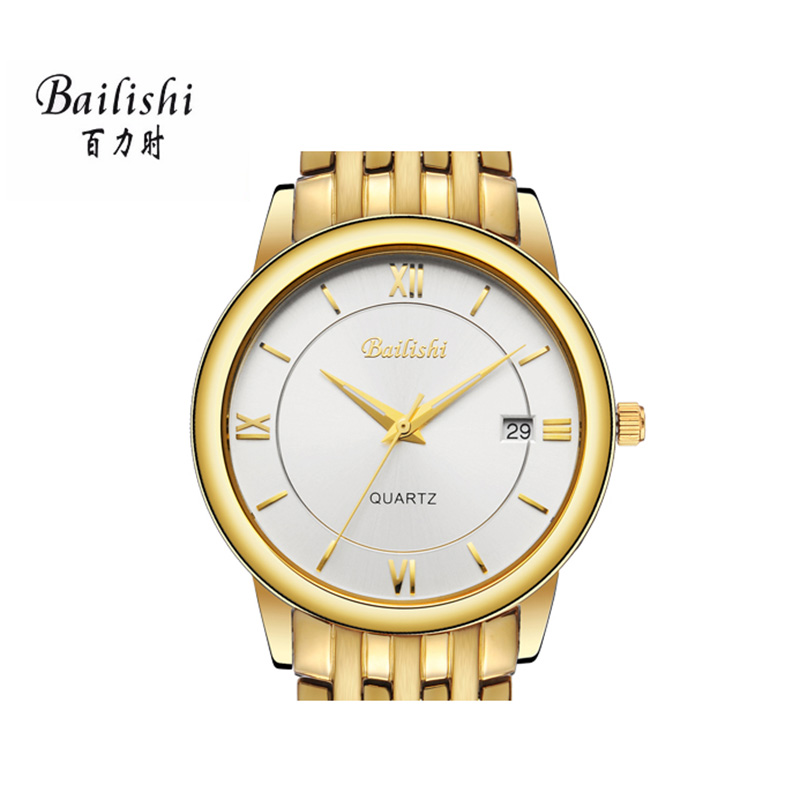 BAILISHI men watches high quality gold stainless steel quartz men's wrist watch top brand waterproof sport male waatch bailishi diamonds hour stainless steel wrist watch male clock men sports watches men s casual quartz watch waterproof watches