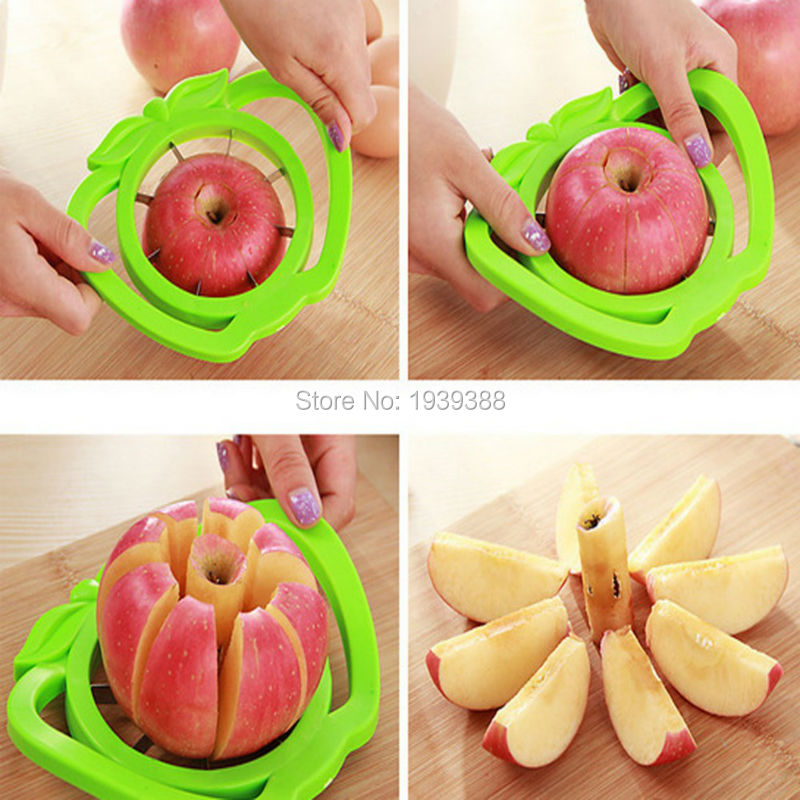 50pcs/lot Household tool cut fruit Multi-function stainless steel shredders slicers Cut the apple device