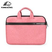 Купить с кэшбэком Kingsons Men and Women Laptop Handbag Notebook Computer Sleeve Bags Carrying Office Bussiness Preferred Travel Tote