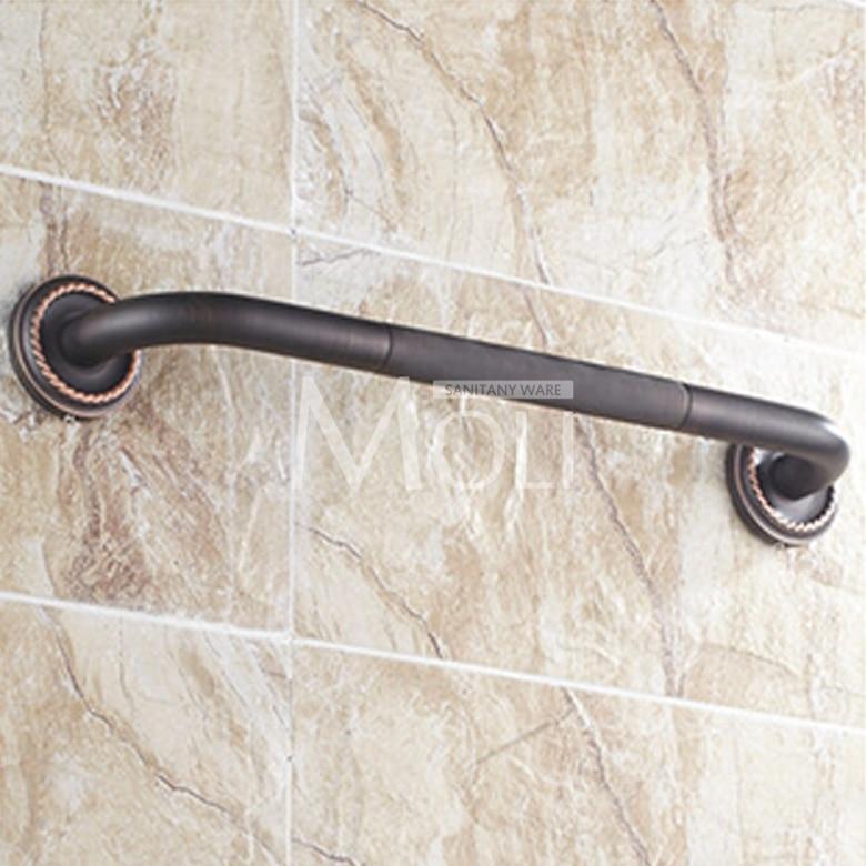 Black bathroom accessories soild brass oil rubbed bronze grab bar ...