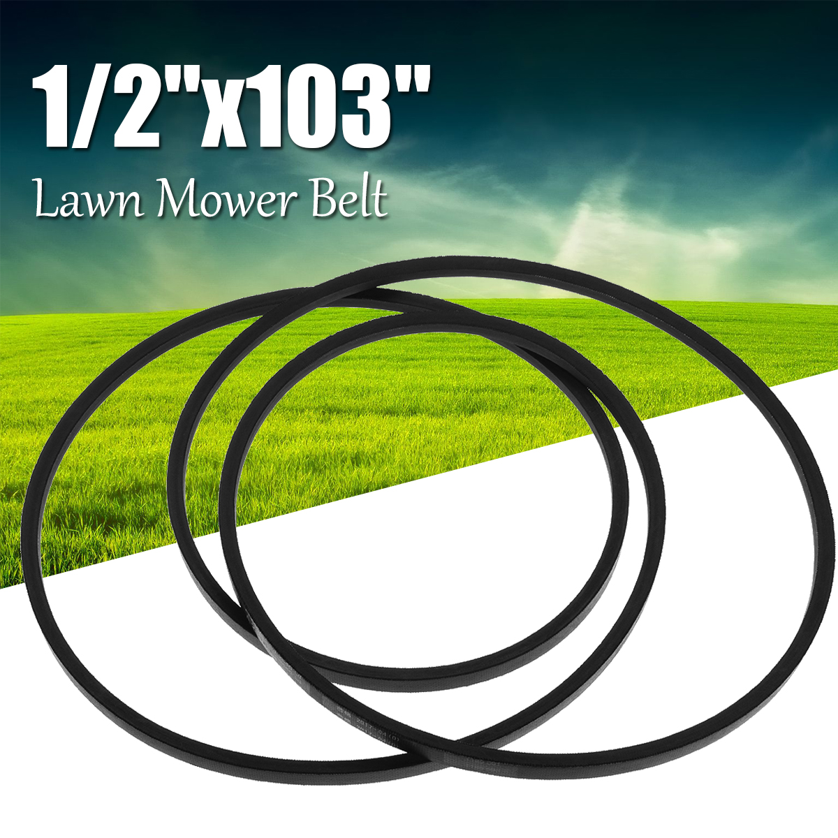 13mm For A101 Industrial Lawn Mower V Belt Rubber 1/2''x103'' Mower Deck Belt Replacement for Industrial Machinery Accessory