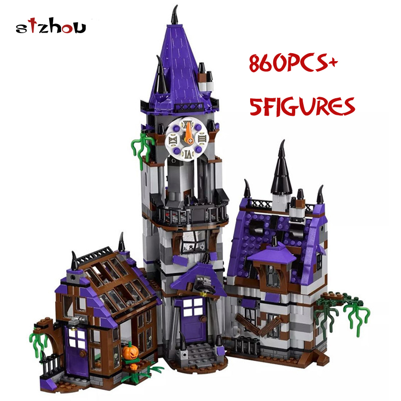 Bela 10432 Scooby Doo Figures Mysterious Ghost Mansion 860pcs Building Blocks Bricks Educational Toys For Children Gifts 75904 10432 scooby doo mysterious ghost house 860pcs building block toys compatible legoingly 75904 blocks for children gift
