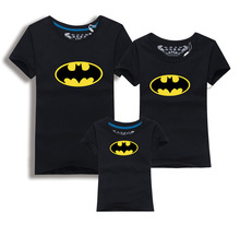 The Bat Family Look – Batman T Shirts Summer Family Matching Clothes Father Mother Kids Cartoon Outfits New Cotton Tees Free Shipping 5XL
