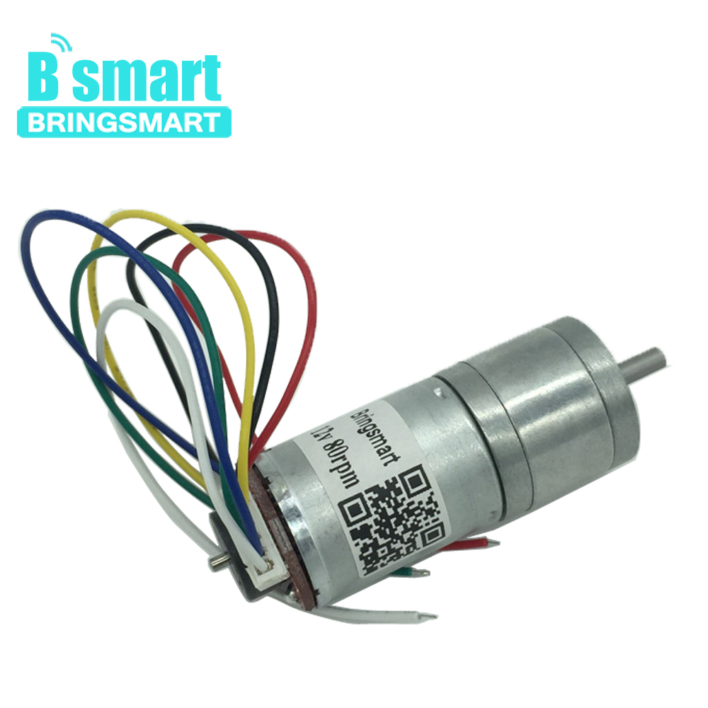 Bringsmart JGA25-371 <font><b>Encoder</b></font> <font><b>Gear</b></font> <font><b>Motor</b></font> <font><b>12v</b></font> DC for High Torque Mini Electric <font><b>Motor</b></font> Micro Electric Parts for Toy image