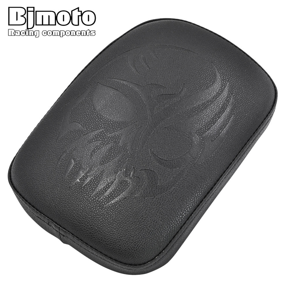 BJMOTO For Harley Dyna Sportster Softail Touring XL 883 1200 Rear Passenger Cushion 6 Suction Cups Pillion Pad Suction Seat rst 001 bk black aluminum rear seat mounting tab cover for harley sportster dyna softail street glide street bob touring