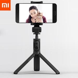 Image 1 - Le plus nouveau Xiaomi monopode Mi Selfie bâton Bluetooth trépied avec télécommande sans fil 360 Rotation flexible/filaire Version Android IOS D5