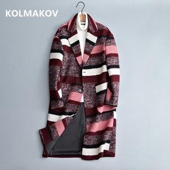 09124e8e6a8 2019 nuevo estilo de moda de los hombres de rayas de lana gabardina abrigo  casual para hombre cortavientos de alta calidad mantener caliente abrigos de  lana ...