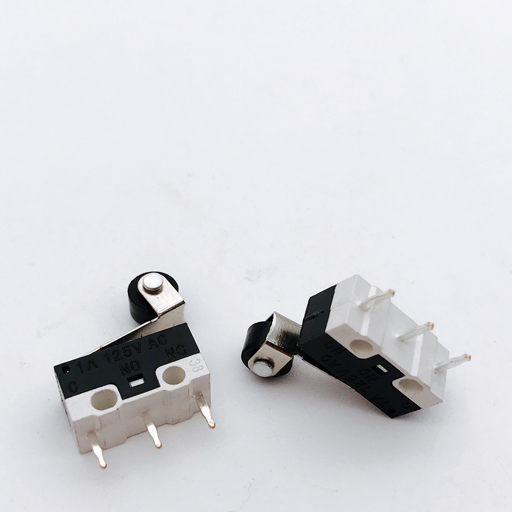 20pcs Mini Micro Switch Roller Lever Actuator Microswitch SPDT Sub Miniature Accessories 1A 125VAC 10pcs long straight hinge lever spdt micro limit switch v 153 1c25
