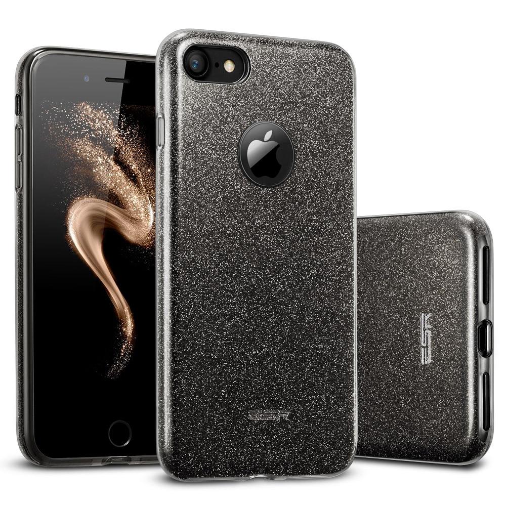 imágenes para Case para iphone 7/7 plus, esr 3-capa de maquillaje serie cubierta posterior protector de parachoques de bling shinning glitter case para iphone7 7 plus