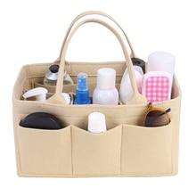 Beg Penyimpanan Beg, Merasa masukkan Penyusun Purse untuk Tote & Handbag Pembentuk, Travel Insert Handbag Portable Women Cosmetic Organizer