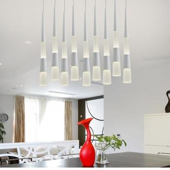 Fishing cord Hanging Led cone light dining room led pendant  lights for Restaurant Bar Living Room suspended led lustre light