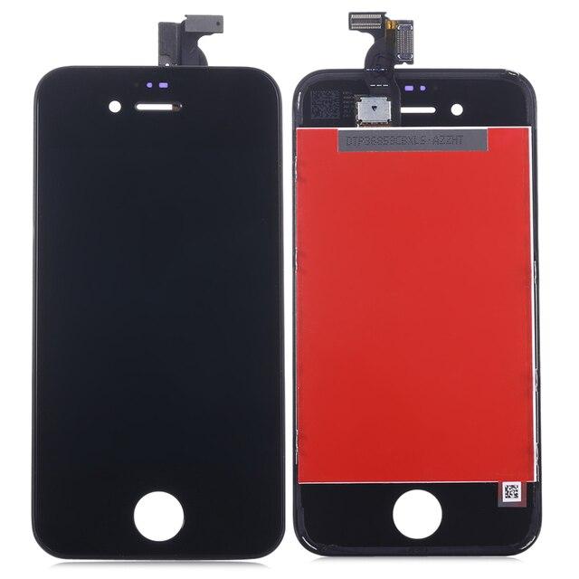 Для iPhone 4 Замена ЖК-Экран Ассамблея + Сенсорный Стекло Дигитайзер Телефон Ремонт Набор Инструментов для iPhone4 Белый AAA