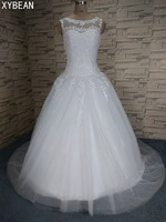 Free Shipping 2017 New Arrival Appliques Bridal White/Ivory Wedding Dresses