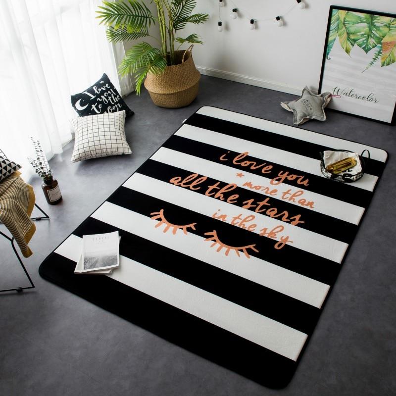 145*195 CM Style nordique tapis et tapis pour salon grande taille daim tapis velours Surface tapis salon tapis grand tapis de sol