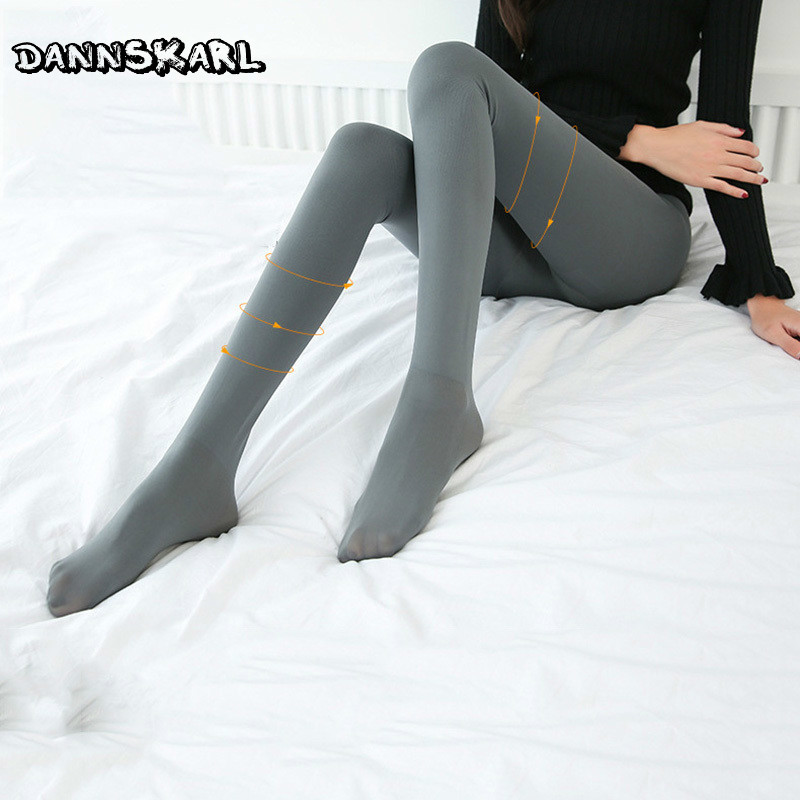 New Pattren Women Tights Winter Nylon Tights Women Medias Woman Warm Pantyhose Stockings Solid Color Female Hosiery Collant Колготки