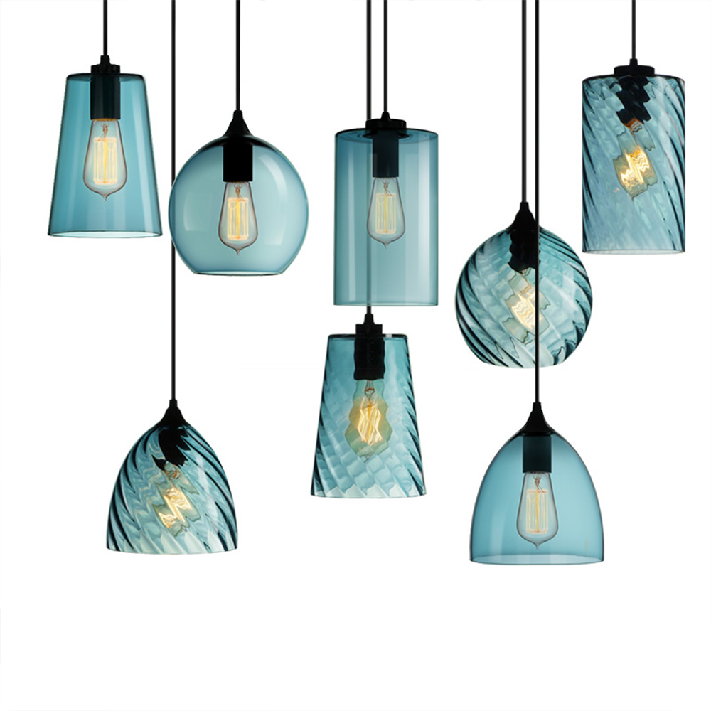 Nordic Style Modern Pendant Lights LED Incandescent Glass