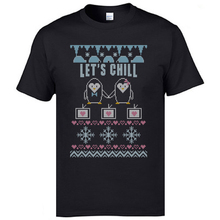 Christmas Santa Penguins Let's Chill T Shirts Snow Printed On Tshirts For Men New Arrival Men's Fashion Casual Tops XXL/XXL шестигранник bbb microfold xxl btl 42 xxl
