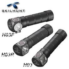 Mới Skilhunt H03 H03R H03F Lampe Frontale 1200 Lumens Đèn Pha Led Ngoài Trời 18650 Đầu Đèn Cắm Trại Hoofdlamp Linterna + Dây Đeo Đầu
