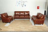 Louis Donne Genuine Leather Sofa Top Grain Leather Sofa(Model AM8005), Living Room Sofa Set
