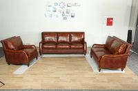 Louis Donne Genuine Leather Sofa Top Grain Leather Sofa(Model AM8005), Living Room Sofa Set