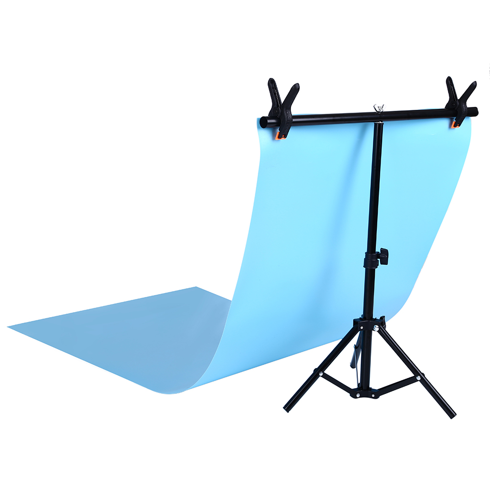 Fotografia pvc pano de fundo suporte suporte sistema de metal fundos para estúdio de fotos com 2 braçadeiras 68cm x 75cm