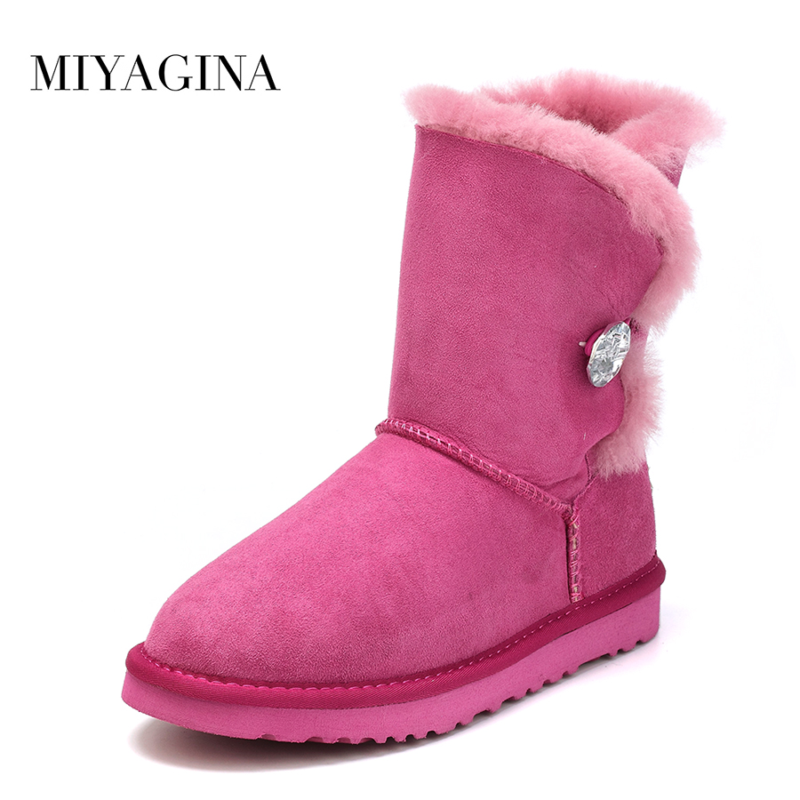 Free shipping High Quality Women's Genuine sheepskin leather Snow Boots 100% natural fur snow boots Warm Winter Boots winter warm women boots high quality snow boots 100% genuine sheepskin and natural fur fashion boots free shipping