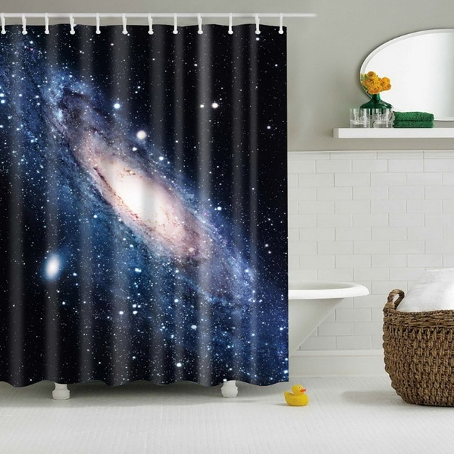 Waterproof Polyester Fabric Shower Curtain BravoVision Fashion Custom American Flag Stars