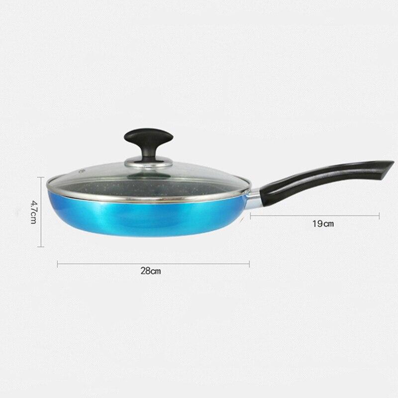 Poêle en aluminium cuisine Panela friteuse 20/24/28 cm coloré oeufs grilles & casseroles pour cuisinière à gaz plaque de cuisson antiadhésive en cuivre - 6
