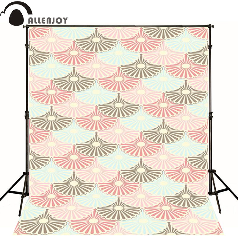 Allenjoy Photographic background Ash blue flower pink newborn photography baby shower send rolled wall floor