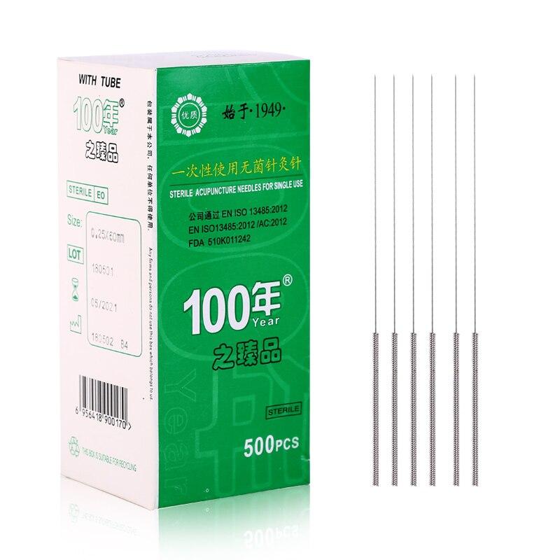 500 pcs disposable sterile acupuncture needles 0.25/0.30/0.35*13/25/40/50/60/75mm