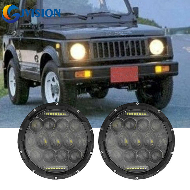 7 inch led headlight DRL 7'' 75W Auto Round headlamps for Jeep Wrangler JK Hummer H1 H2 Lada 4x4 urban Niva Driving lights