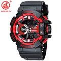 2015 OHSEN Hombres Relojes Deportivos De Plástico LED Digital Analógico de Cuarzo reloj de Pulsera Resistente Al Agua 30 m Reloj Del Ejército Marca de Lujo AS08