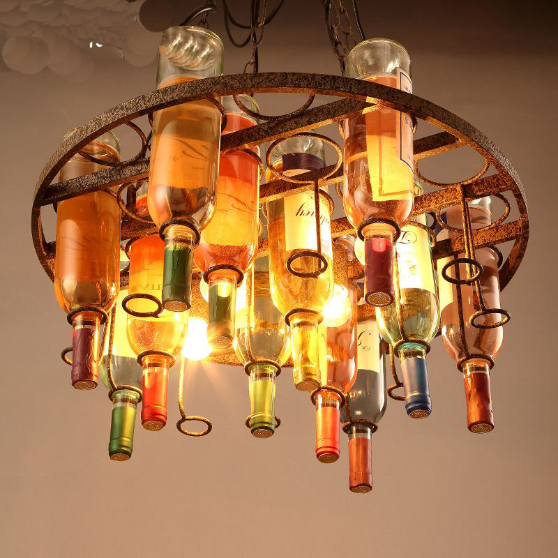 Wine bottle pendant light led wine bottle light for decoration wine bottle pendant light led wine bottle light for decoration creative bar light in pendant lights from lights lighting on aliexpress alibaba group aloadofball Image collections