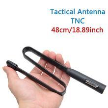 72 ซม. พับ CS ยุทธวิธี Sma Dual Band VHF UHF 144/430 Mhz สำหรับ Yaesu TYT MD 380 Wouxun KG UV8D9D Plus Walkie Talkie