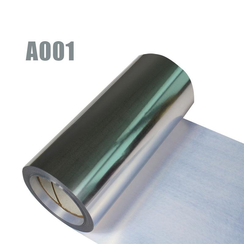 Livraison gratuite 1 rouleau 25cm x 25m hologramme transfert de chaleur vinyle métallique argent fer sur Film HTV T-shirt