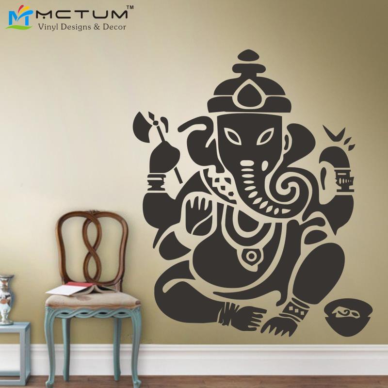 new yoga buddha mandala ganesh elephant god om wall decals vinyl
