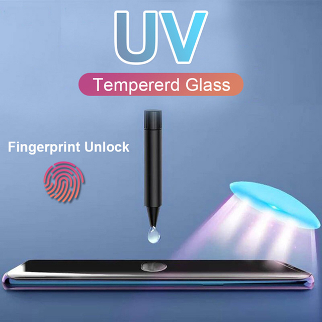 10D UV Liquid Curved Full Glue Tempered Glass For Samsung Galaxy S10 S8 S9 Plus Note 8 9 S7 edge S10E Screen Protector