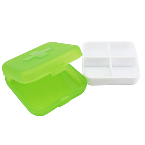 Best Cross font b Tablet b font Pill Boxes Holder Medicine Storage Organizer Container Case Green